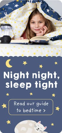 Night night, sleep tight! Read our guide to bedtime on our Blog