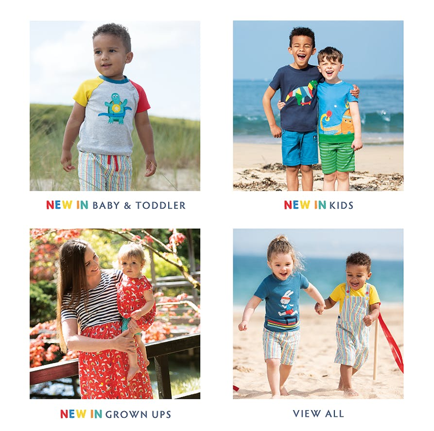 Shop our NEW collection of Baby & Toddler, Kids and Grown Ups organic cotton clothing