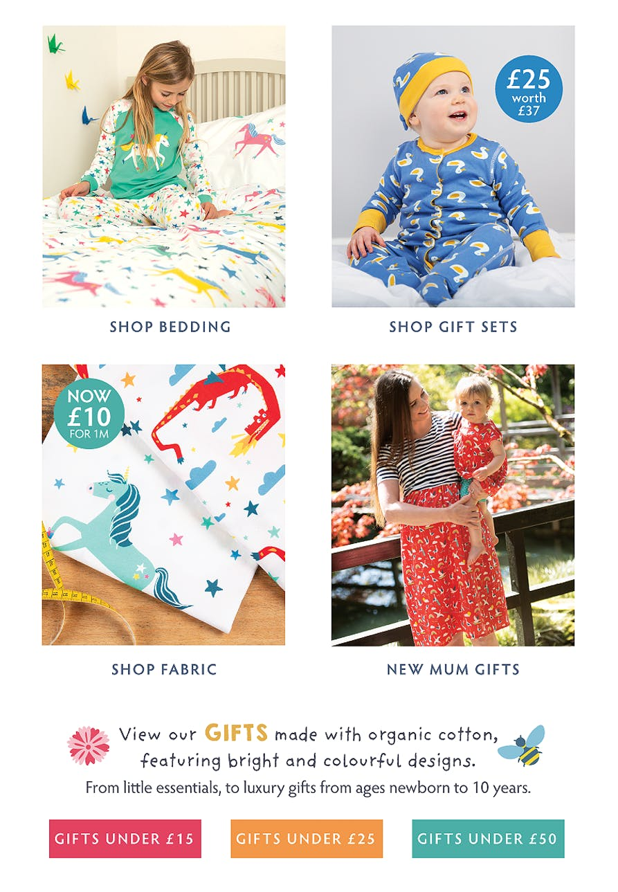Shop our collection of organic cotton Home and Gifts