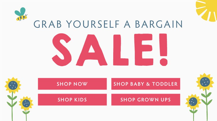 Grab yourself a bargain! Shop sale now