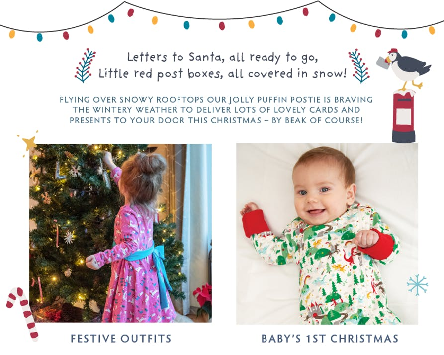 Shop Festive Outfits and Baby's 1st Christmas now