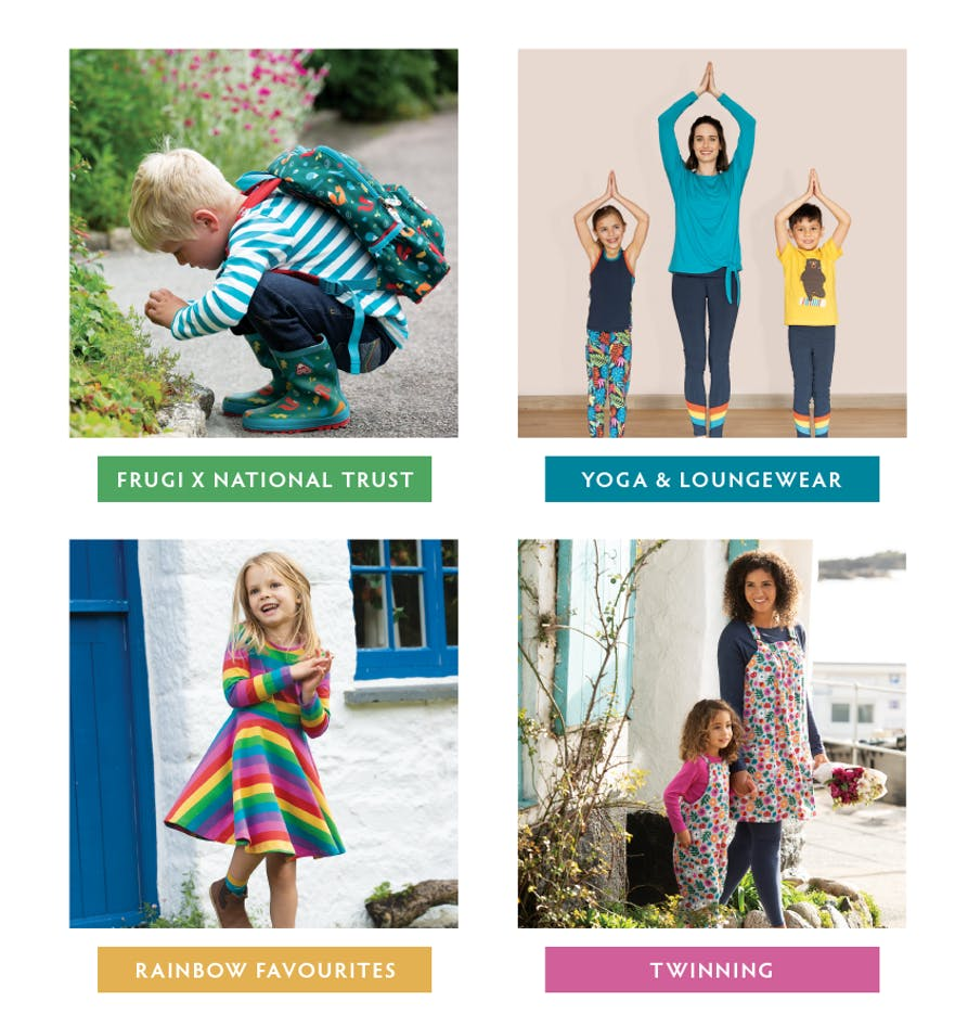 Frugi x National Trust, Yoga & Loungewear, Rainbow Favourites, Twinning - Shop all our Collections now