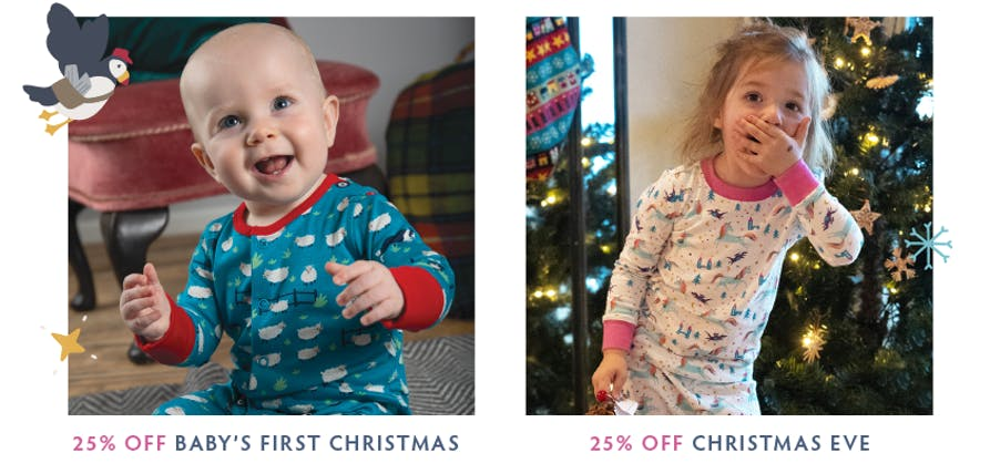 Shop 25% off baby's first Christmas and Christmas eve