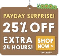 I CARROT believe it, 25% OFF! Ends 12pm Saturday