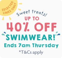 Sweet treats! Up to 40% off Swimwear!
