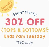 Sweet treats! 30% off Tops and Bottoms!