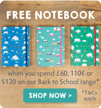FREE notebook when you spend £60 on our Back to School range!