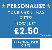 Personalise you Christmas gifts for just £2.50! Shop personalised gifts