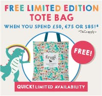 New collection! FREE limited edition tote bag when you spend £50, €75 or $85