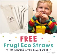 New arrivals! FREE Frugi eco straws when you spend £60, €75 or $85!*