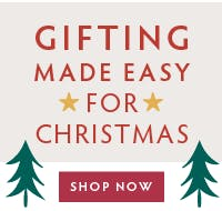 Gifting made easy for Christmas! View our Christmas gifts now