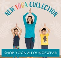 Join us as we celebrate physical and mental wellbeing with our Tropical Leaves Yoga & Loungewear Collection.