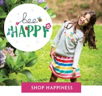Bee Happy! Shop our spring collection full of happiness now