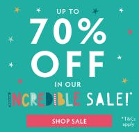 Up to 70% off in our Archive Sale! Past season Frugi favourites, T&Cs apply.