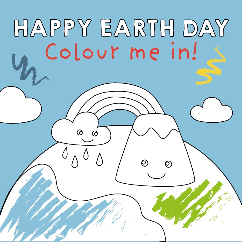 Earth Day Colouring