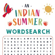 Indian Summer Wordsearch