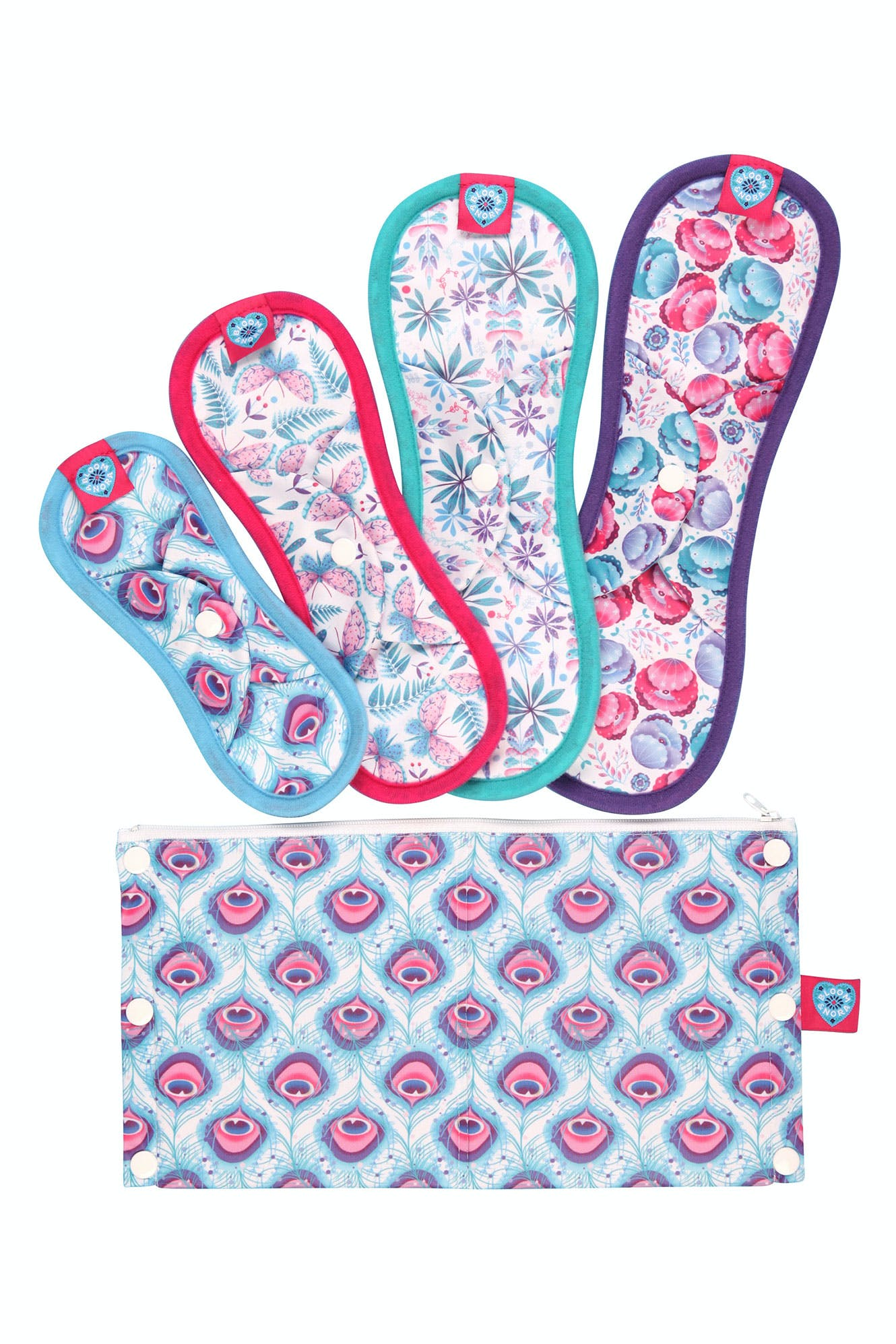 Click to view product details and reviews for Nora Reusable Sanitary Pads Trial Kit.