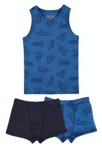 Vest and Boxer 3 Piece Set