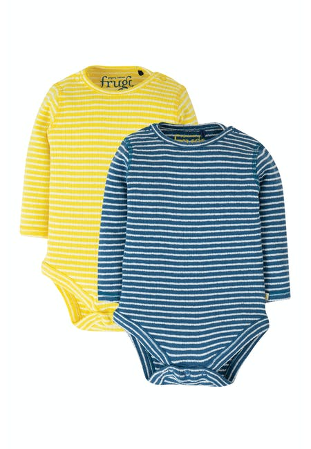 Buy Pointelle 2 Pack Body: Made From Organic Cotton| Frugi