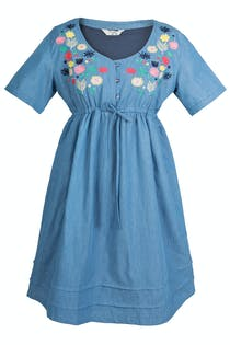 Lightweight Denim Smock Tunic
