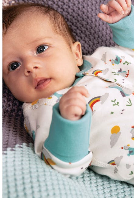 Buy Lovely Little Babygrow: Organic Cotton Interlock | Frugi
