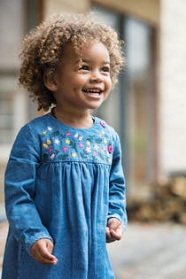 Little Edie Embroidered Dress