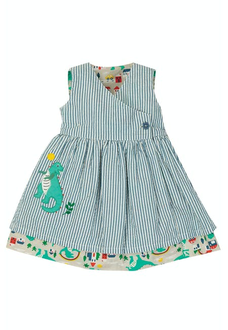 Buy Nora Reversible Dress: 100% Organic Cotton | Frugi
