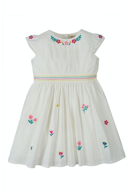 Rosy Embroidered Dress