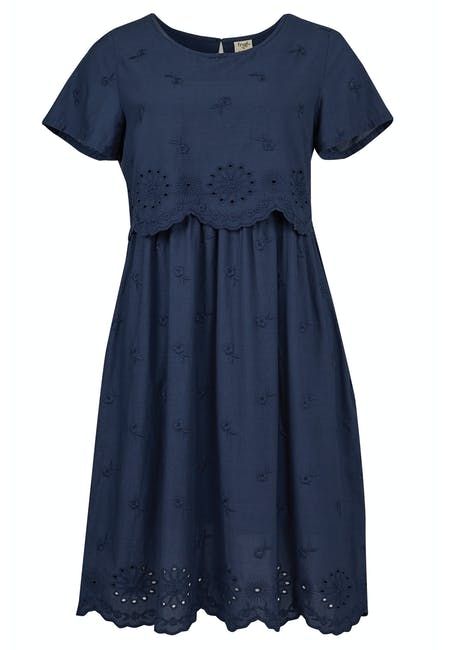 Schiffli Maternity  & Nursing Dress