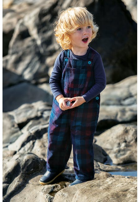 George Check Dungaree