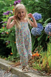 Safia Smocked Dungaree