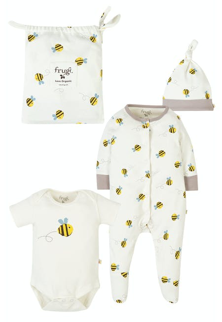 Buzzy Bee Baby Gift Set: 0-3 Months - Buy Online | Frugi