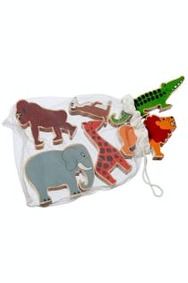 Fair Trade Wooden Toy Animals In A Bag