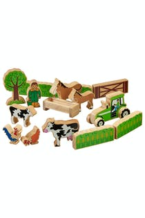15 Piece Fair Trade Wooden Toy Set