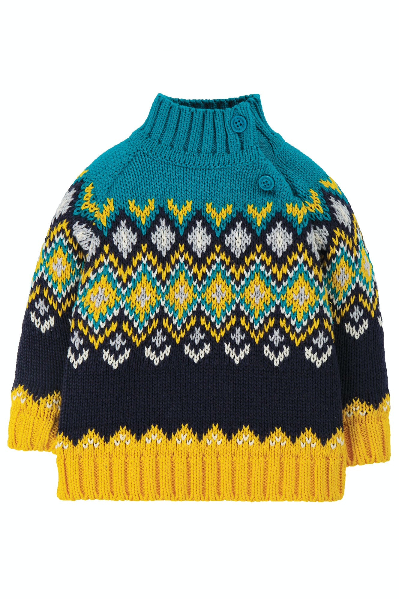 Click to view product details and reviews for Fyfe Fairisle Jumper.