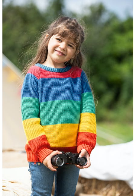 Rainbow Knitted Jumper
