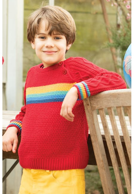 Buy Caleb Cable Knit Jumper: Organic Cotton | Frugi