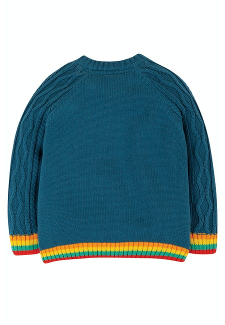 Buy Caleb Cable Knit Jumper: 100% Organic Cotton | Frugi