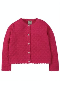 Pea Pointelle Cardigan