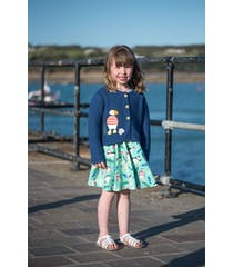 Milly Applique Swing Cardigan