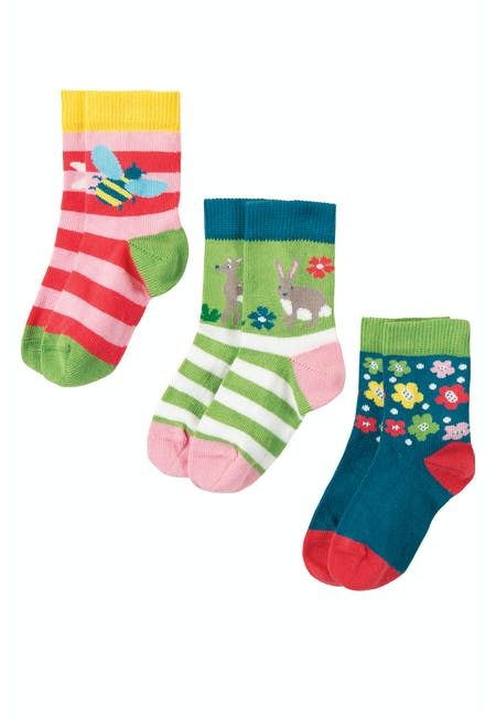 Buy Little Socks 3 Pack: Comfy Rib Cuff | Frugi