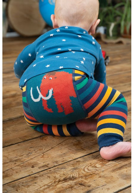 Buy Little Knitted Leggings: Rainbow Stripe Design | Frugi