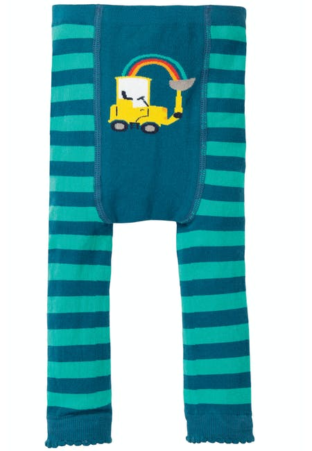 Buy Fun Knitted Leggings: Colourful Tractor Design | Frugi