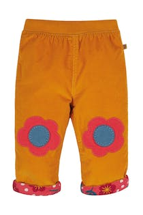 Cord Flower Reversible Trousers