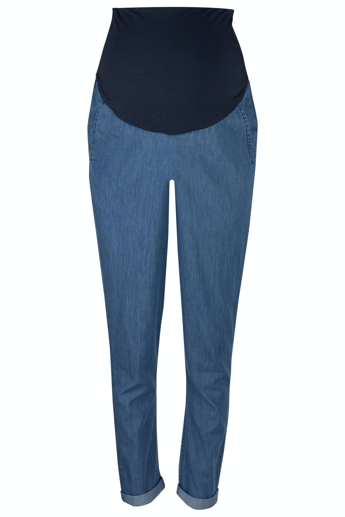 Click to view product details and reviews for Cara Maternity Chambray Trousers.