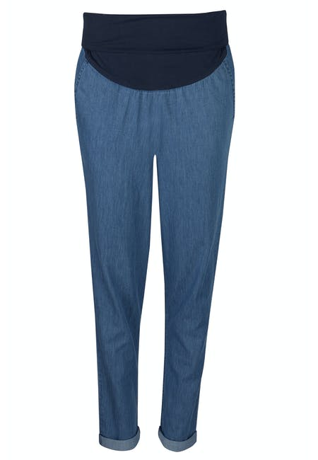 Cara Maternity Chambray Trousers