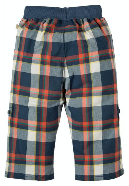 Check Roll Up Trousers