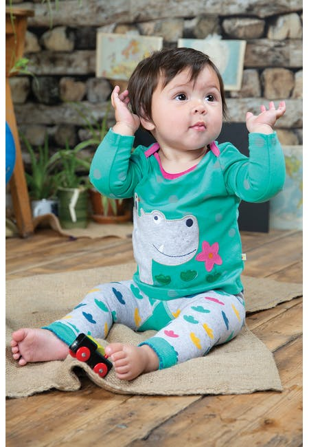 Buy Bobby Applique Top:  Made From Organic Cotton| Frugi