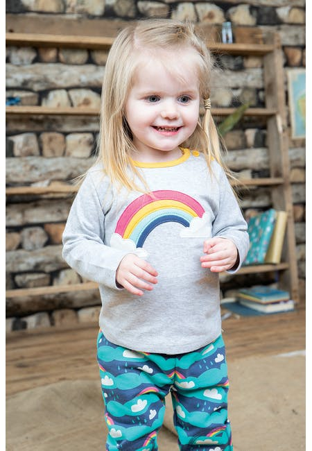Buy Button Applique Top: 100% Organic Cotton | Frugi
