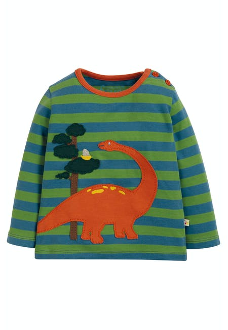 Buy Wilf Wraparound Applique Top: 100% Organic Cotton | Frugi